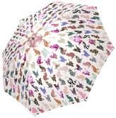 Hipster Umbrellas Girly Cats in Aztec/Floral/Leopard Print/Chevron Pattern Cheap Compact Parasol Umbrella, Folding Travel Umbrella