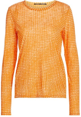 Proenza Schouler Logo-Print Long-Sleeve Cotton Tee