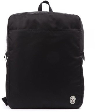 Alexander McQueen Black Backpack In Technical Fabric And Leather