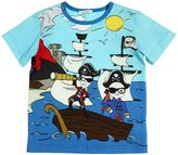 Dolce & Gabbana Pirates Print Cotton Jersey T-Shirt