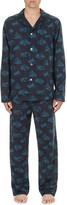 Derek Rose Mountain-print cotton-toile pyjama set