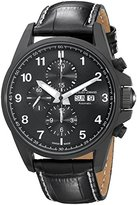 Jacques Lemans Men's 1-1750C Liverpool Automatic Analog Display Swiss Automatic Black Watch