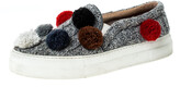 Thumbnail for your product : Joshua Sanders Grey Wool Blend Pom Pom Slip On Sneakers Size 39