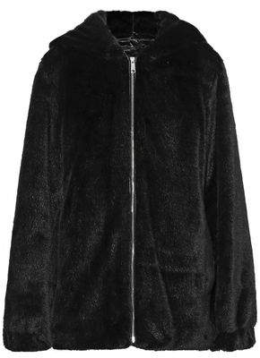 Helmut Lang Oversized Faux Fur Hooded Jacket