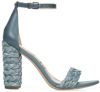 Sam Edelman Yoana Raffia Block-Heel Sandals