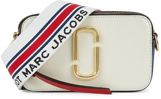 Marc Jacobs The Snapshot Small cream leather cross-body bag