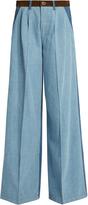 Sonia Rykiel High-waisted wide-leg patchwork jeans