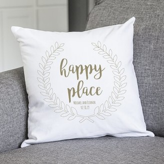 Cathy's Concepts Cathys Concepts Personalized Happy Place Cotton Throw Pillow Cathys Concepts Customize: Yes