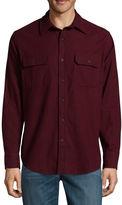 ST. JOHN'S BAY St. John's Bay Long Sleeve Stripe Button-Front Shirt
