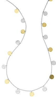 Ippolita 18K Gold & Sterling Silver Classico Hammered Disc Statement Necklace, 33