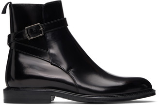 Saint Laurent Black Army Jodhpur Boots