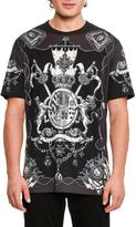Dolce & Gabbana Nautical Crests Cotton T-Shirt, Black/White