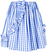 MSGM Check Volant skirt
