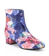 Betsey Johnson Talia Floral Print Velvet Booties