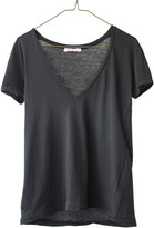 Ragdoll LA VINTAGE V-NECK TEE Faded Black