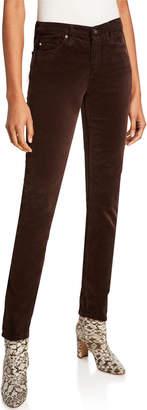 AG Jeans The Prima Velvet Mid-Rise Cigarette Pants