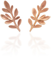 Luisa Schroder Palm Rose Gold Stud Earrings