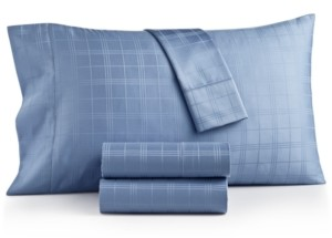 Charter Club Damask Windowpane Supima Cotton 550-Thread Count 3-Pc. Twin Sheet Set, Created for Macy's Bedding
