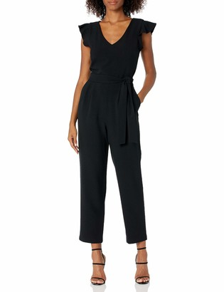 Jessica Howard JessicaHoward Women's Butterfly Sleeve Jumpsuit with Tie Sash