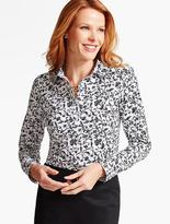 Talbots The Perfect Long-Sleeve Shirt-Romantic Florals
