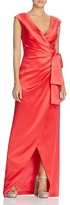 Kay Unger Satin Wrap Gown