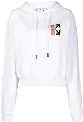 Off-White Gradient Logo Hoodie White/multicolor