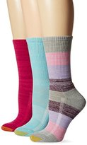 Gold Toe Women's Free Feed Stripe Crew Athletic Sport Sock 3-Pack