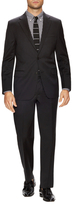 Hickey Freeman Solid Super 120s Notch Lapel Suit