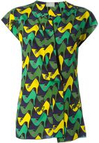 Lanvin shoe print top - women - Silk/Viscose - 36