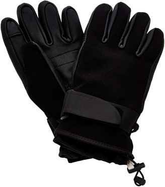 MONCLER GENIUS 3 Moncler Grenoble Leather-Trimmed Shell Ski Gloves