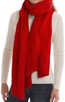 "Portolano Cashmere Cable-Knit Wrap - 23x80"" (For Women)"