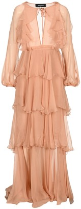 DSQUARED2 Long Flounce Dress