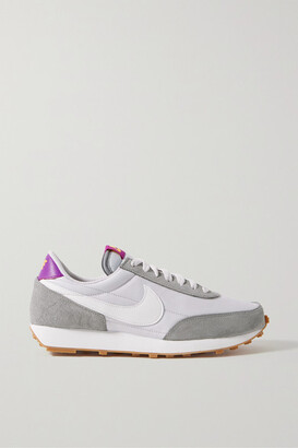 Nike Daybreak Shell, Suede And Leather Sneakers - Light gray
