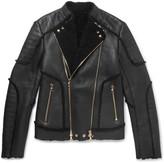 Balmain - Shearling Biker Jacket
