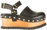 Sacai platform clog sandals