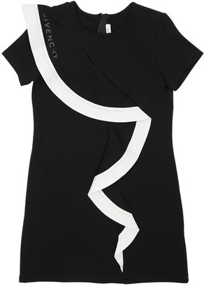Givenchy Cotton Interlock Dress W/ Ruffle