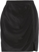 Rebecca Minkoff Simone gathered silk crepe de chine skirt