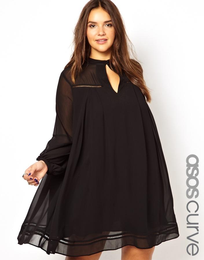 Asos Swing Dress In Vintage Look