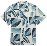Desmond & Dempsey Cuban Printed Linen Pyjama Shirt