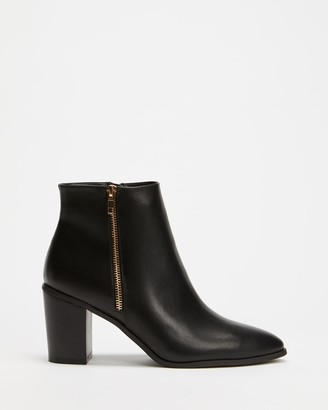 Spurr Women's Black Heeled Boots - Carrie Ankle Boots - Size 5 at The Iconic