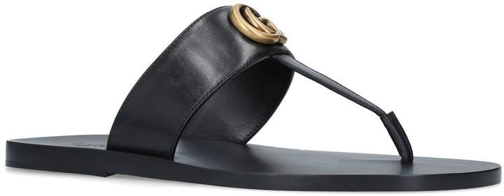 Gucci Leather Francis Thong Sandals