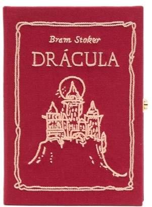 Olympia Le-Tan Olympia Le Tan Mini Dracula Canvas Clutch Bag - Womens - Red Multi