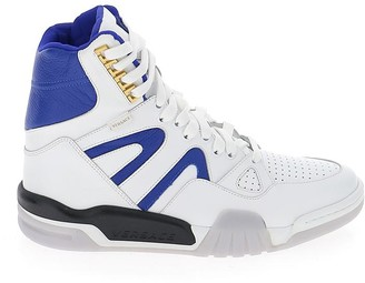 Versace Hi-Top Panelled Lace Up Sneakers