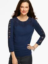 Talbots Lace-Detailed Blouse