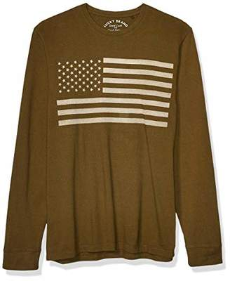 Lucky Brand Men's Long Sleeve USA Flag Tee