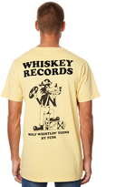 The Critical Slide Society Whiskey Records Mens Tee Yellow