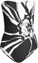 One-Piece Print Bandeau Swimsuit