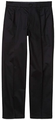 Dockers Straight Fit Signature Khaki Lux Cotton Stretch Pants - Pleated (Black) Men's Casual Pants