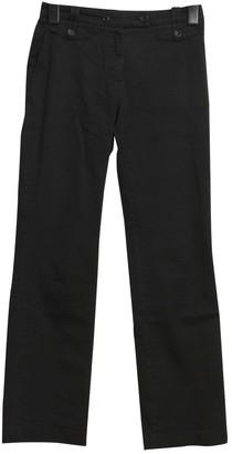 Pablo Black Cotton Trousers for Women