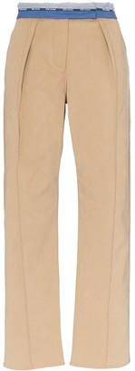 Rosie Assoulin Contrast Waist Trousers